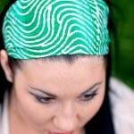 Green Headband, Spring Hair..