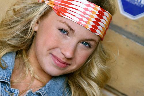 Wide Stretch Womens/Teens Headband, Workout Hairband, Orange and Peach Bandana- Red, Orange, and Pink Diamonds
